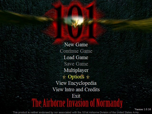 101: The Airborne Invasion of Normandy splash screen