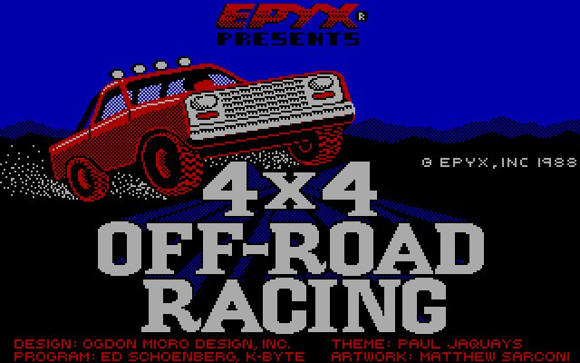 4x4 Offroad Racing splash screen