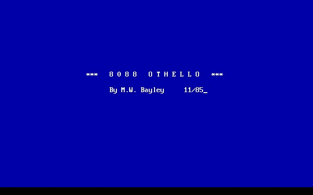 8088 Othello splash screen