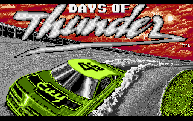 Days of Thunder splash screen