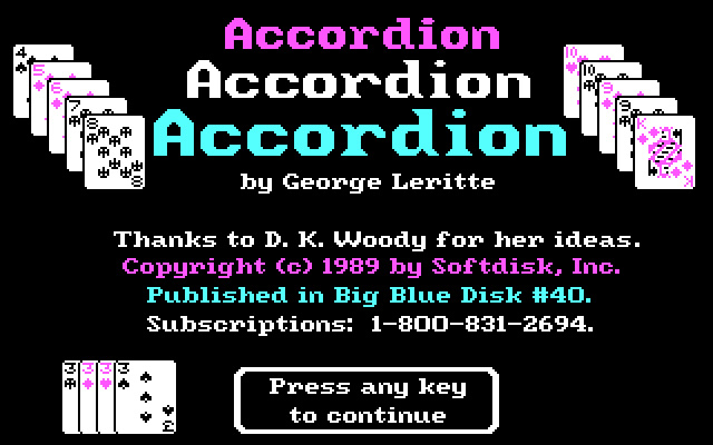 Accordion splash screen