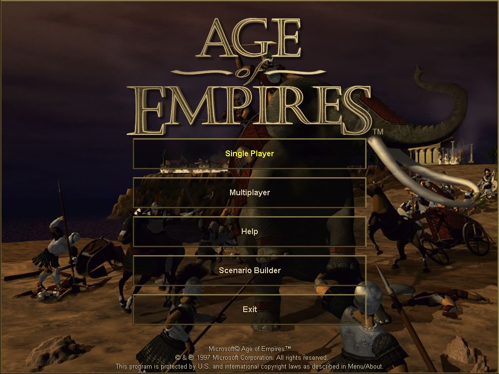 Age of Empires 1 splash screen