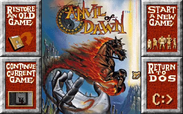 Anvil of dawn splash screen