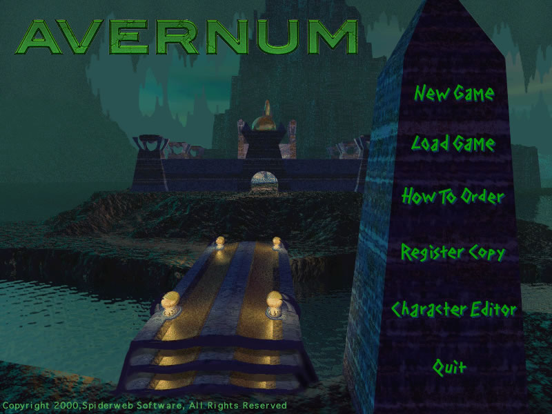 Avernum 1 splash screen
