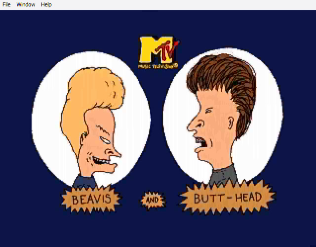 Beavis and Butt-Head in Virtual Stupidity splash screen