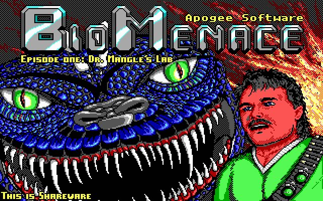 Bio Menace Episode One: Dr. Mangle's Lab splash screen