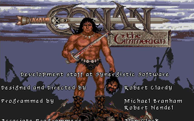 Conan: the Cimmerian splash screen