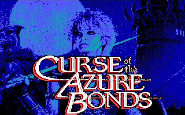 Curse of the Azure Bonds splash screen