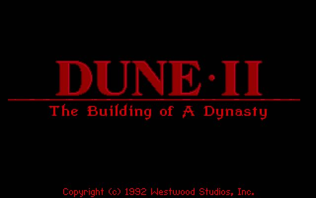 Dune II: The building of a dynasty splash screen