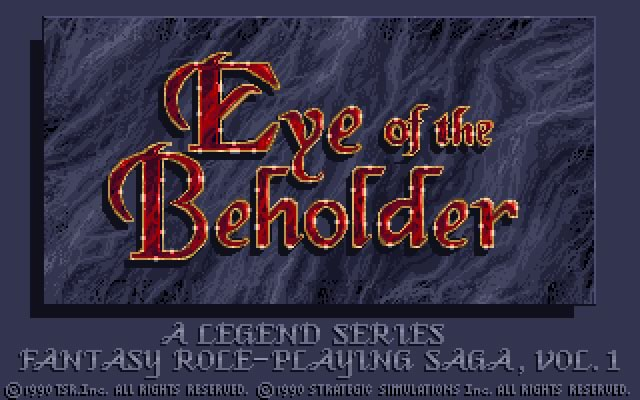 Eye of the beholder splash screen