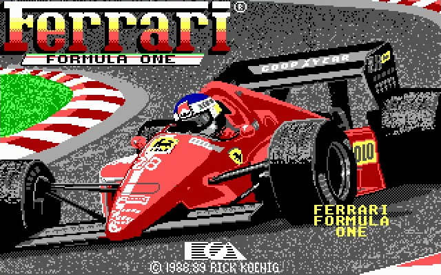 Ferrari Formula 1 splash screen