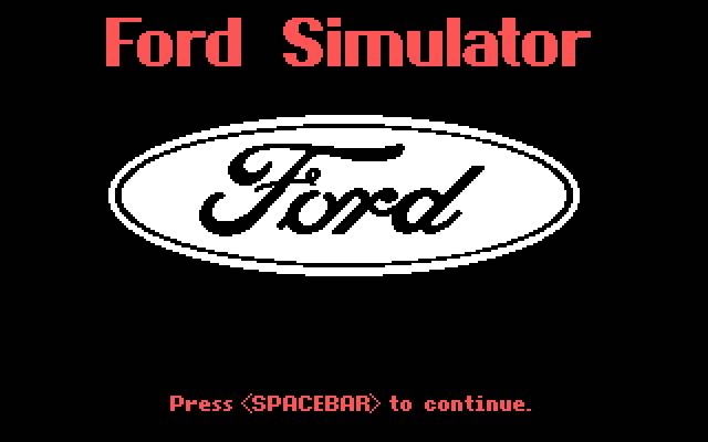 Ford simulator 1 splash screen