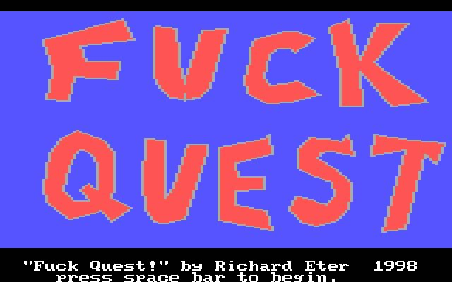 Fuck Quest splash screen