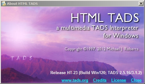 HTML Tads splash screen