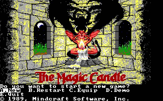 The Magic Candle 1 splash screen