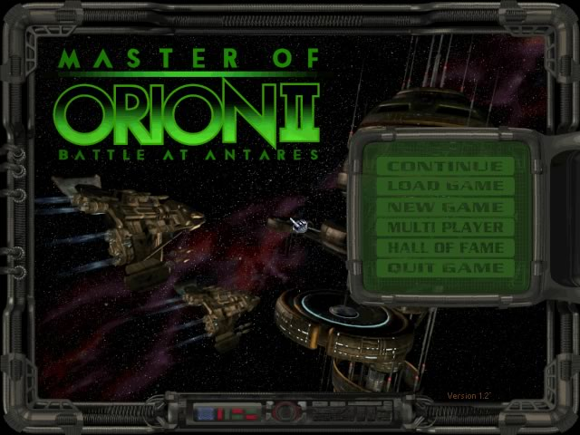 Master of Orion 2: Battle at Antares splash screen