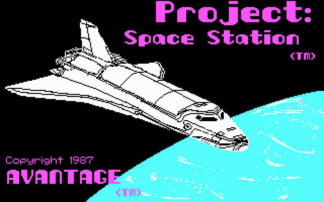 Project: space station splash screen