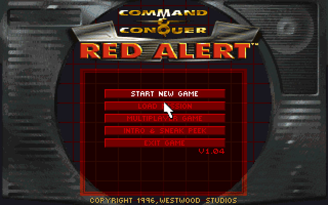Command & Conquer: Red Alert splash screen