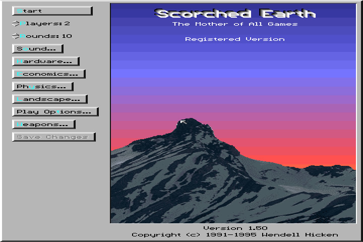 Scorched Earth splash screen