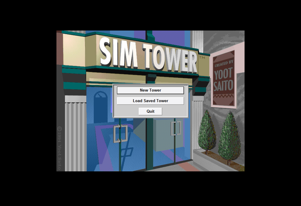 SimTower splash screen