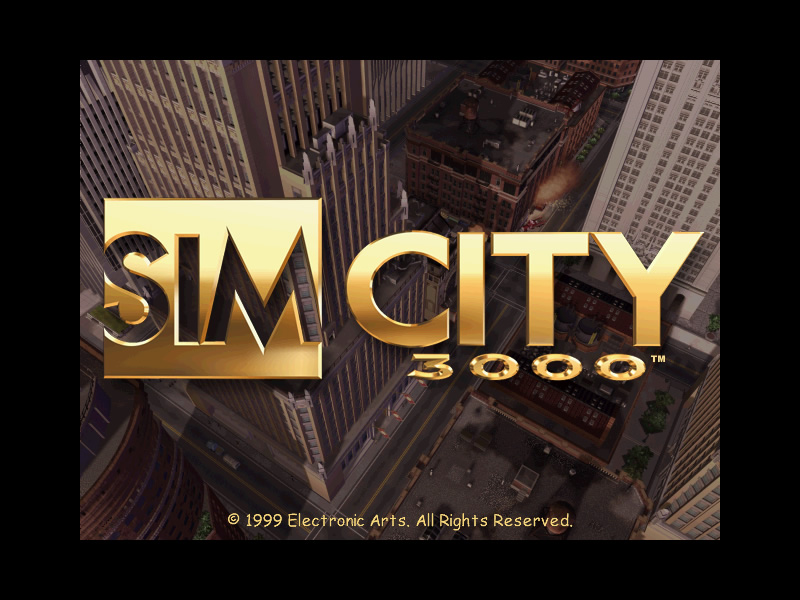 SimCity 3000 splash screen