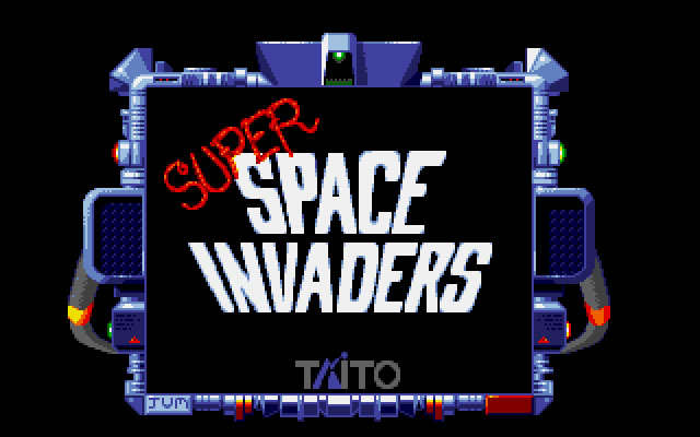 Taito's super space invaders splash screen