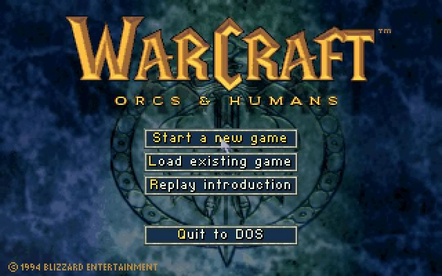 Warcraft: Orcs and Humans splash screen