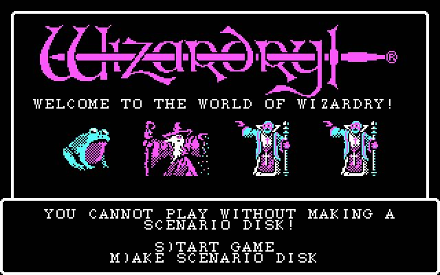 Wizardry 1: Proving grounds of the mad overlord splash screen