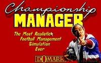 Retro classic: Championship Manager