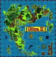Ultima 6 map of Britannia