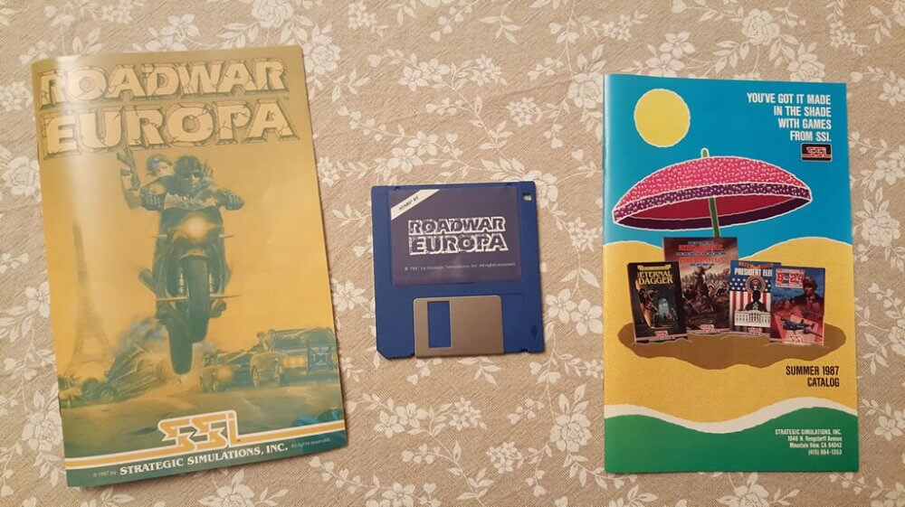 Roadwar Europa for Atari ST big box and collector's notes ...